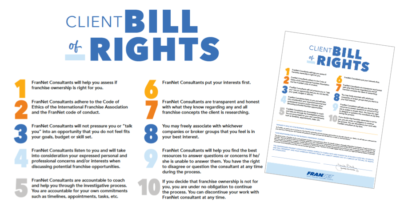 FranNet's Client Bill of Rights